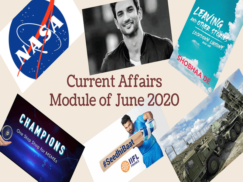 Current Affairs Module of June 2020 PDF