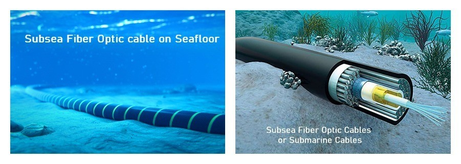 Optical Fiber Cables on Seafloor