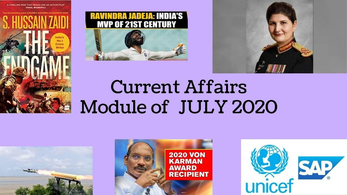 Current Affairs Module of June 2020