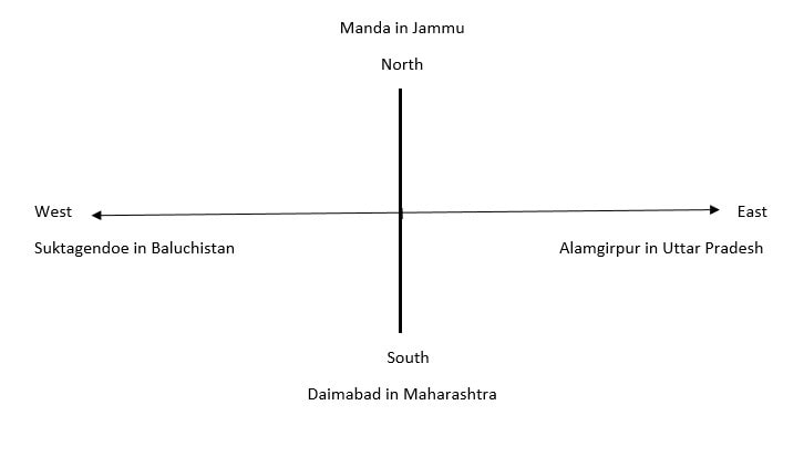 Geographical Limit of Indus Valley Civilization