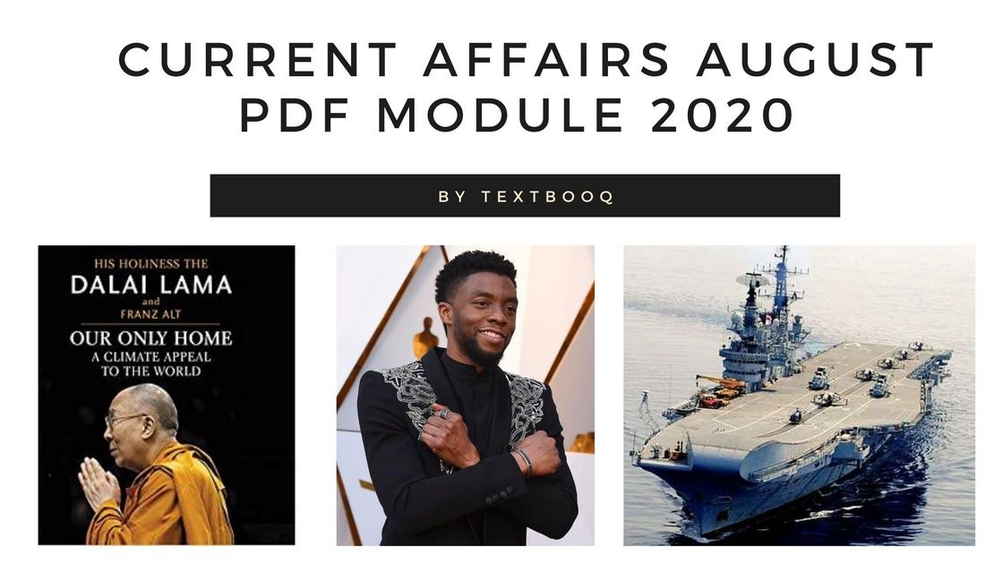 Current Affairs August PDF Module 2020