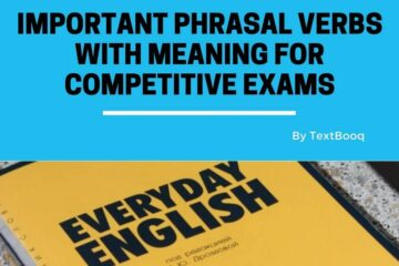 Important Phrasal Verbs With Meaning for Competitive Exams