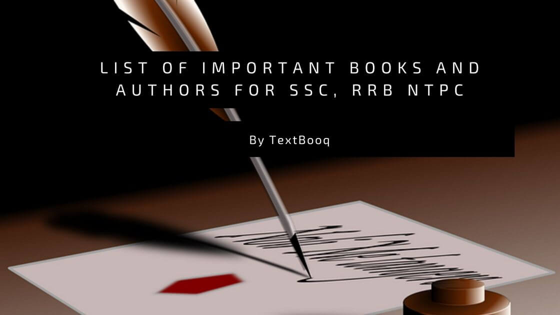 List of Important Books and Authors for SSC, RRB NTPC