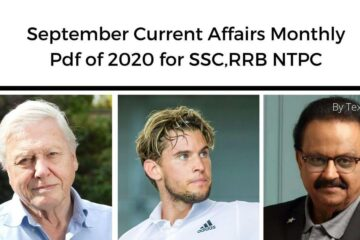 September Current Affairs Monthly Pdf of 2020