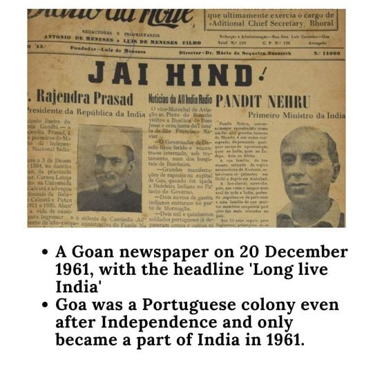Goa became the part of India in 1961