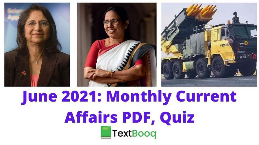 June 2021 Monthly Current Affairs PDF and Quiz